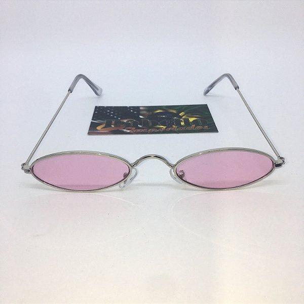 Óculos Vintage Oval - Lilas/Prata
