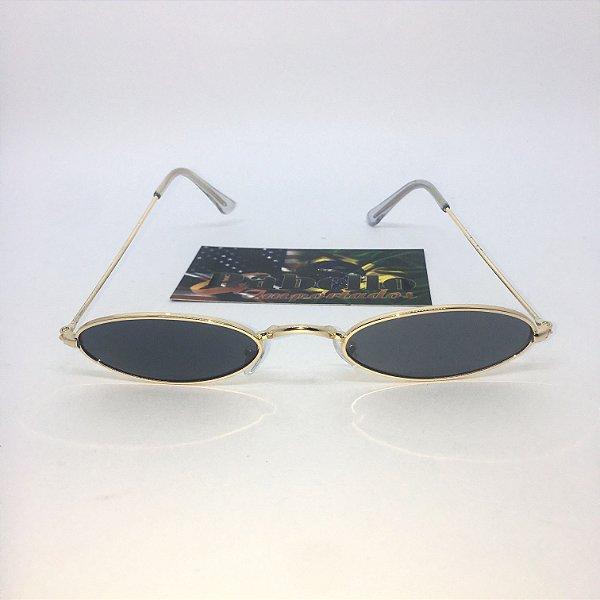 fe28a12ffe836 Óculos Vintage Oval - Preto Dourado - Rabello Store