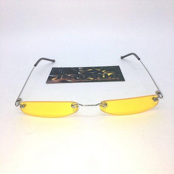Óculos Vintage Slim - Amarelo