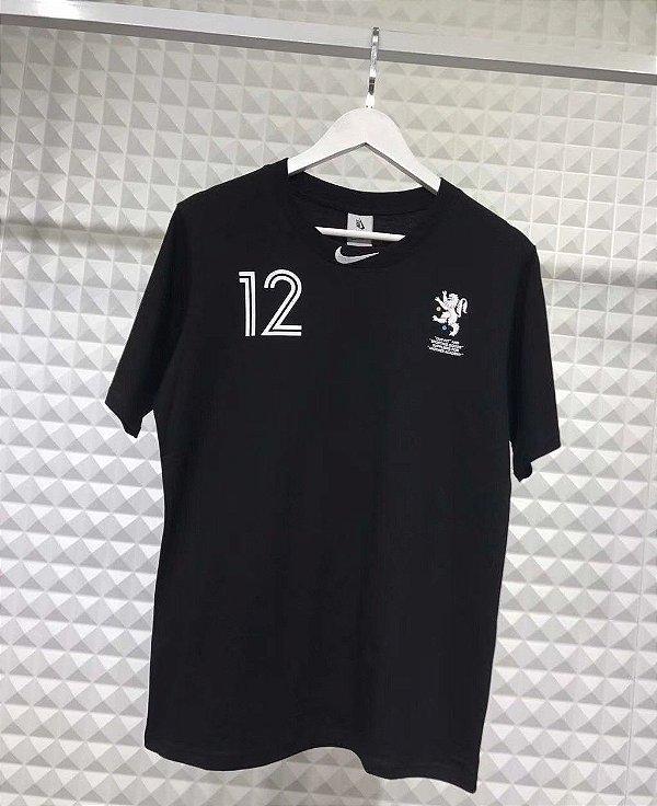 Camiseta Nike x Off White World Cup Logo Black - ENCOMENDA