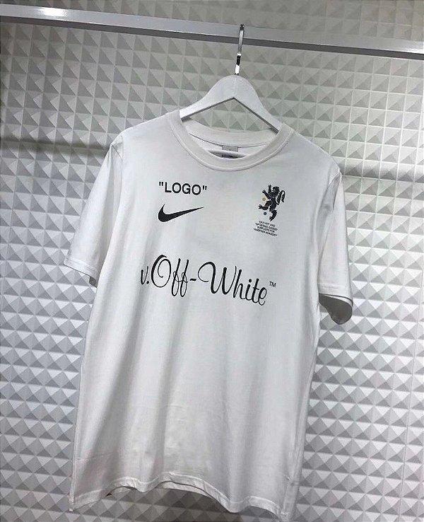 Camiseta Nike x Off White World Cup Logo White - ENCOMENDA