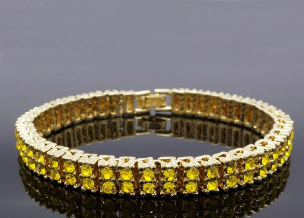 Pulseira ICED OUT  'Gold Canary'