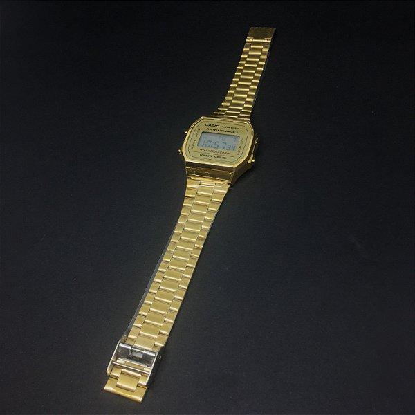 Relógio Casio Vintage Unissex 'Dourado A168WG-9WDF