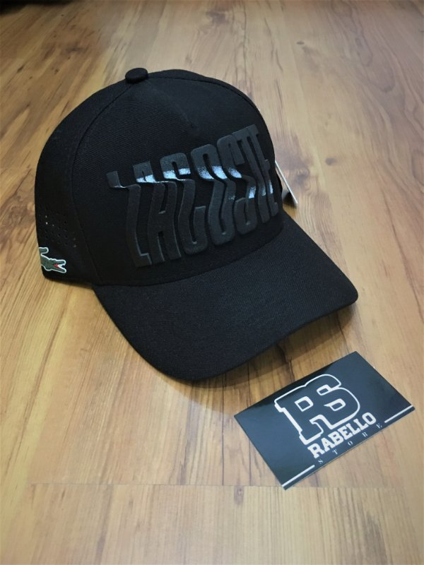 "Boné Lacoste Logo ""All Black"" - Preto"