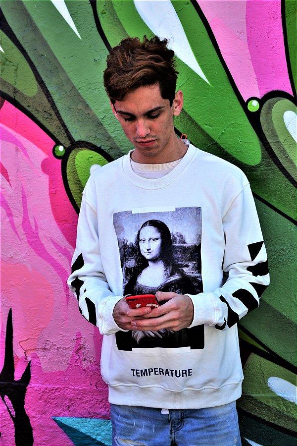 Blusa OFF-WHITE Moletom 'Mona Lisa - Pronta Entrega