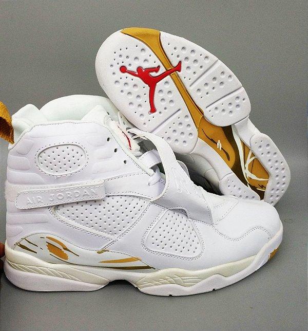 new concept f0998 fb28a Nike Air Jordan 8 Retro White/Gold - ENCOMENDA