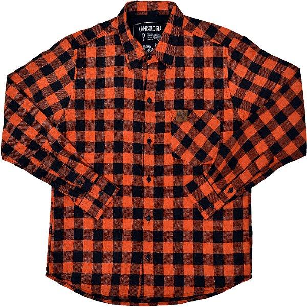 Camisa Xadrez Laranja Black