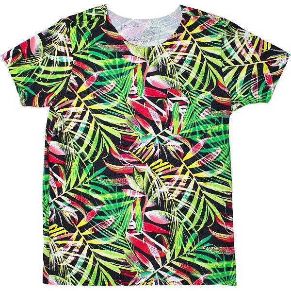 Camiseta Tropical Black