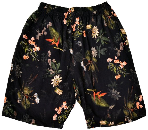 Short Floral Black