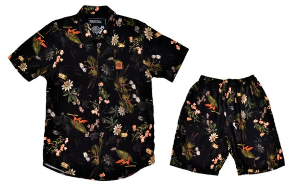 Conjunto Floral Black