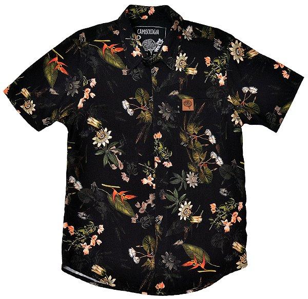 Camisa Floral Black