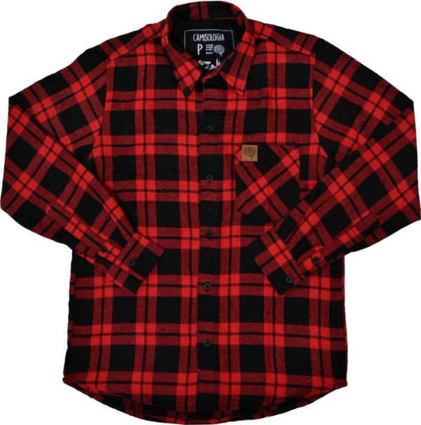 Camisa Xadrez Black Red