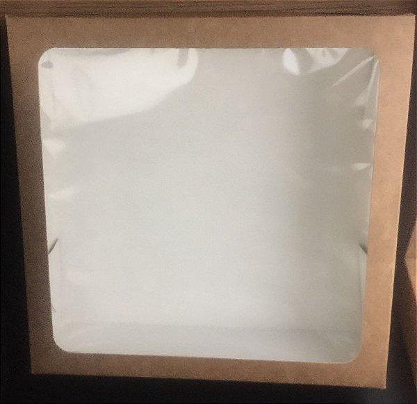 Caixa Papelão Quadrada com visor com 10 unids