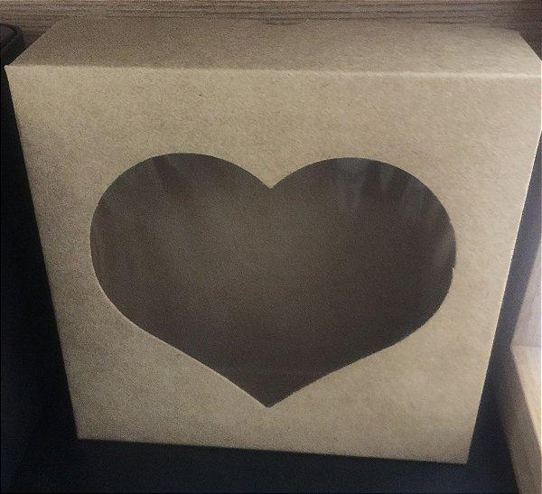 Caixa Papelão Coração com visor com 10 unids