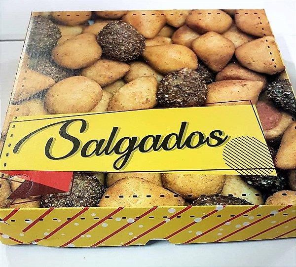 Caixa Papelao 25x25x05 Impresso Salgados c/25unids