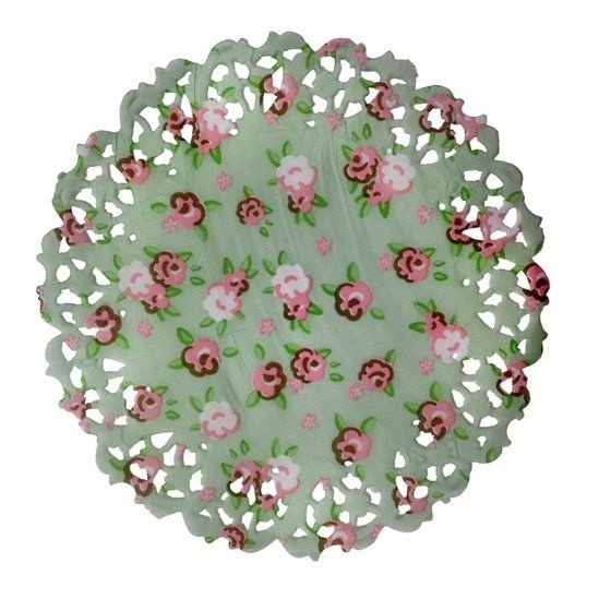 Toalha Rendada Papel Mago (Doilies) Flores (11 cm) 50 unids