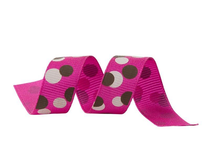 Fita Gorgurão Poá Pink 15mmx25mts unid (consultar disponibilidade na loja antes a compra)