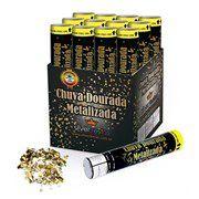 Lança Confete Chuva Dourada Metalizada unid