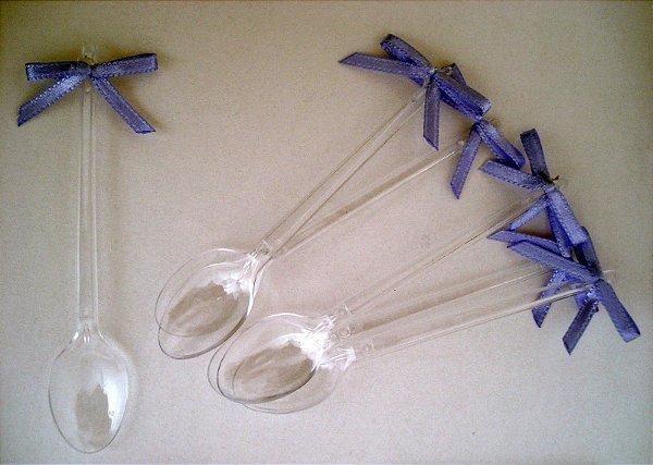 Mini colher com laço lilas 20 unids (consultar disponibilidade antes da compra)