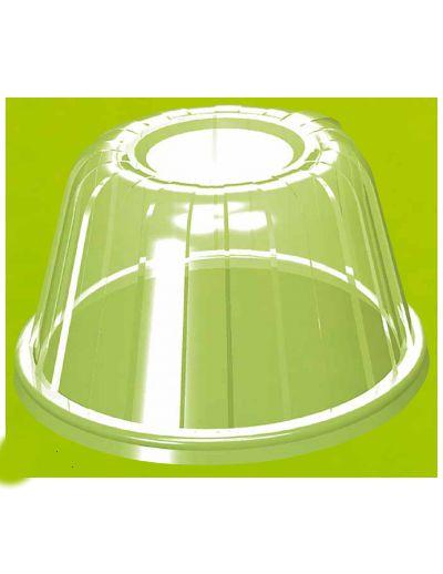 Tampa Cúpula Pote isopor 240/360/480ml (20HDLC) 25 unids