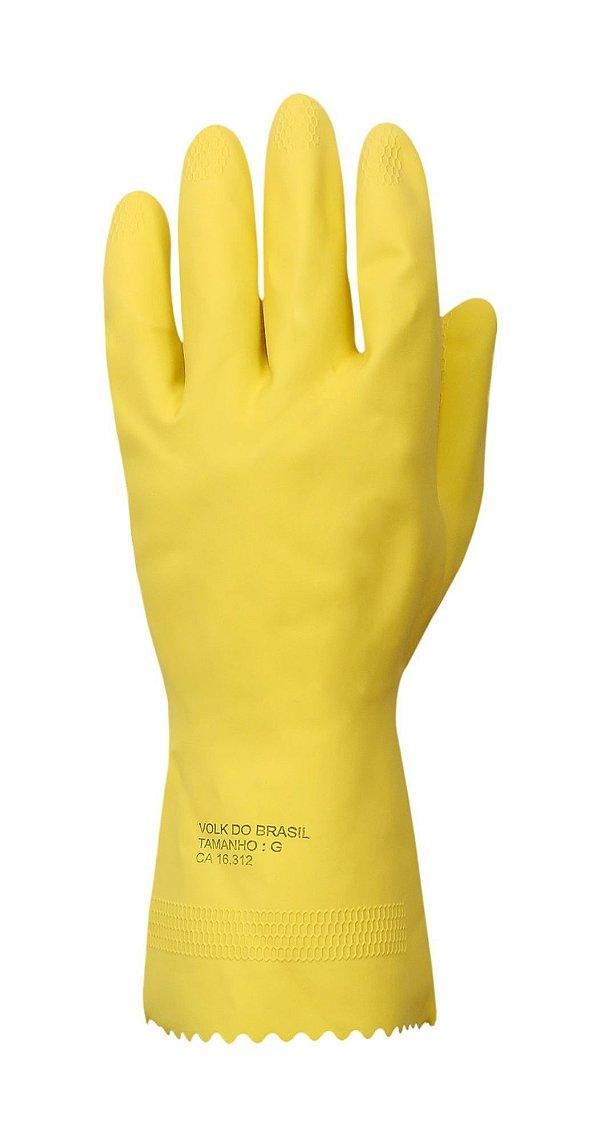 Luva Verniz P amarela par