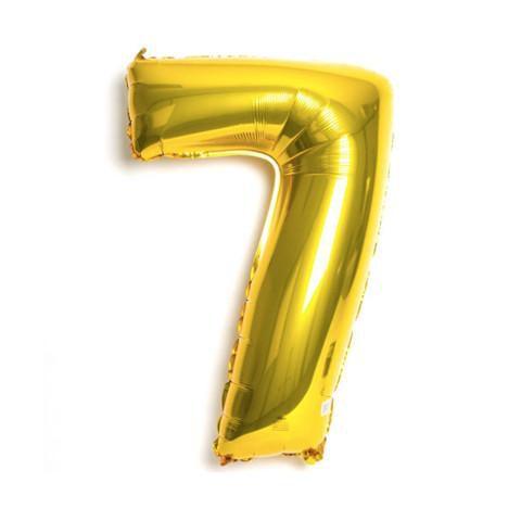 Balão Metalizado nº7 Dourado 32cm unid
