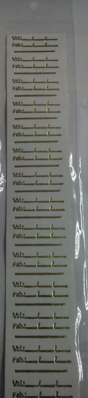 Etiqueta Validade Adesiva 99 unids