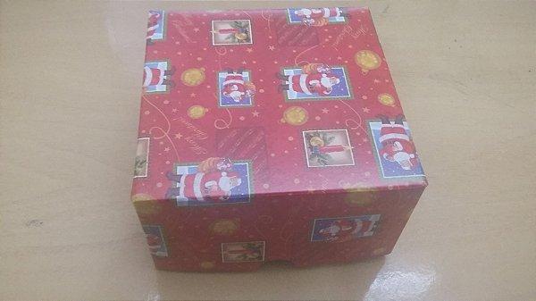 Cx Papelão Amor de Natal 19cmx4cmx12cm unid