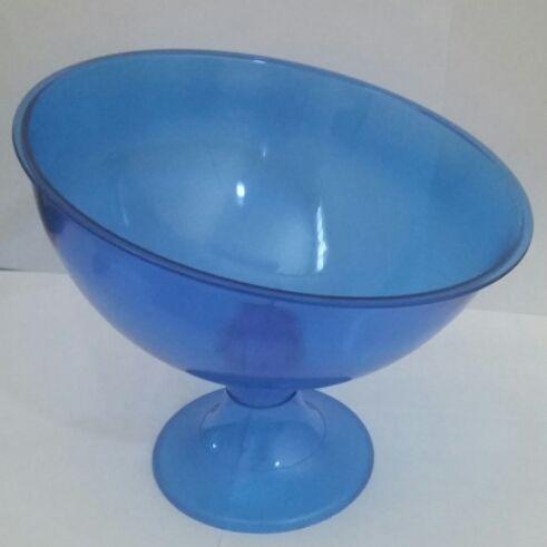 Taça Acrilica Inclinada Grande Cristal Azul unid (consultar disponibilidade antes da compra)