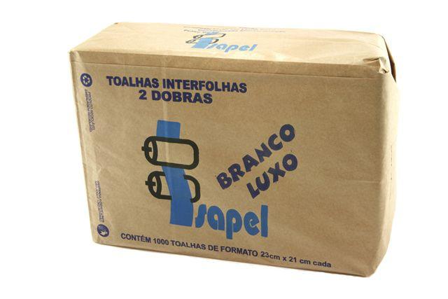 Toalha Interfolha Branca Isapel Luxo 2d (23x21) 1000 fls
