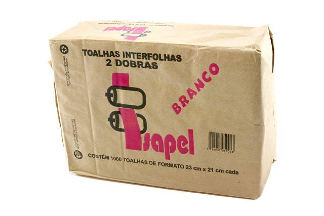 Toalha Interfolha Branca Isapel 2d (22x20,5) 1000 fls