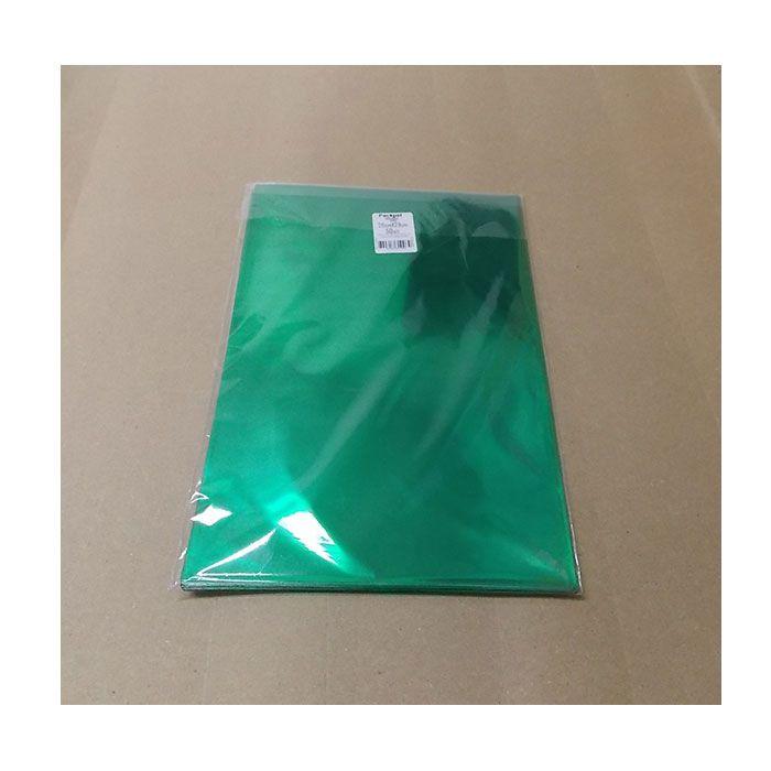Saco metalizado 15x29 verde 50 unids (consultar disponibilidade na loja)
