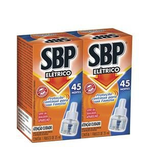 Inseticida Sbp Eletrico Refil 32ml 45 noites c/2 unids