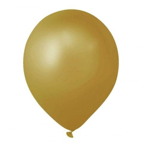 Balão nº09 Ouro 25 unids