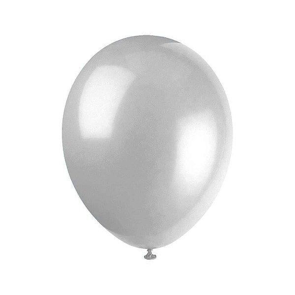 Balão nº09 Prata 25 unids