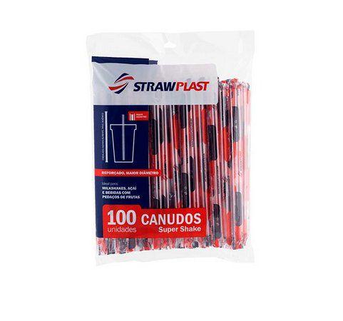 Canudo Super Milk Shake Strawplast 100 unids (10mm)