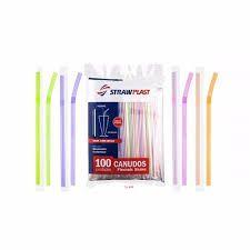 Canudo Super Milk Embalado Neon 100 unids (8mm)