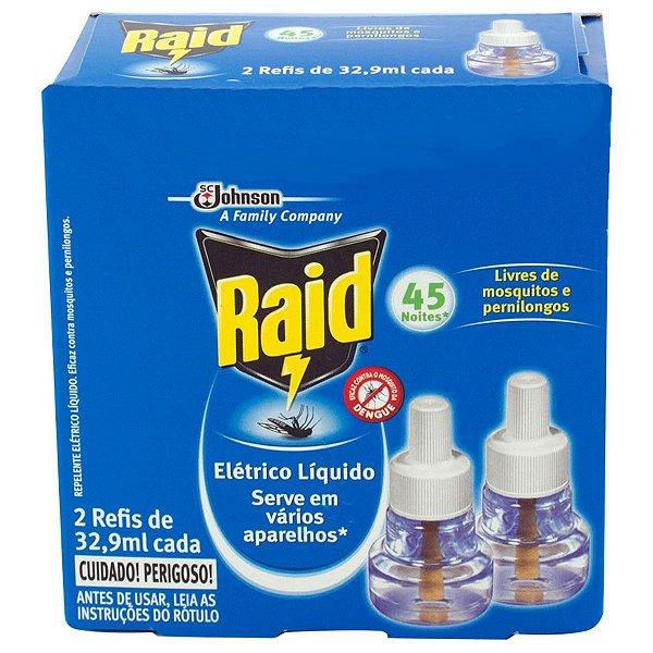 Inseticida Raid Eletrico 45noites c/02 refis