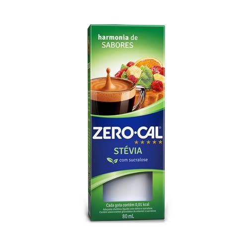 Adoçante Liquido Zero Cal Stevia 80ml unid