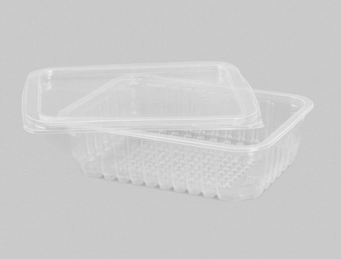 Pote Retangular 750ml C/tmp freezer micro 25unids Copaza