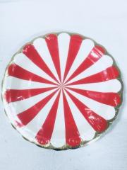 Prato Pàpel 18cm Circo Vermelho 10 unids