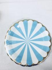 Prato Papel 18cm Circo Azul Bebe 10 unids