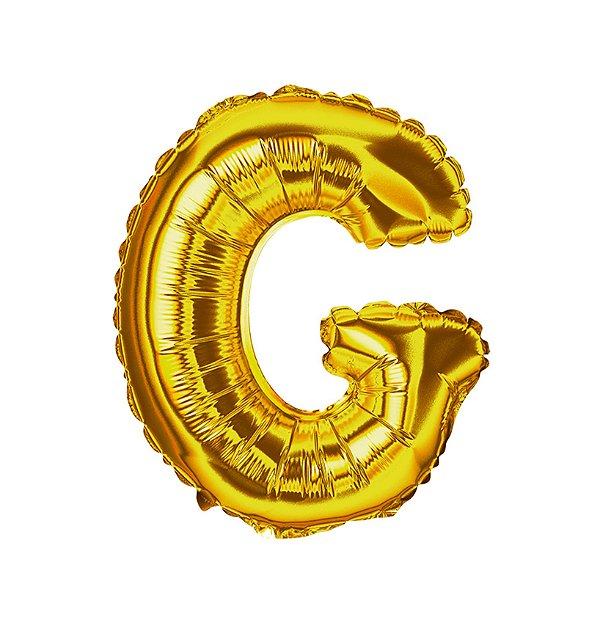 Balão Metalizado Letra G dourada unid