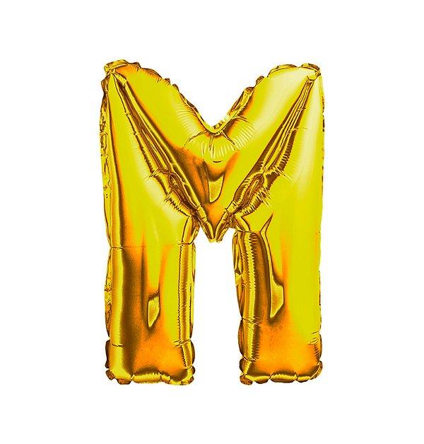 Balão Metalizado Letra M dourada unid