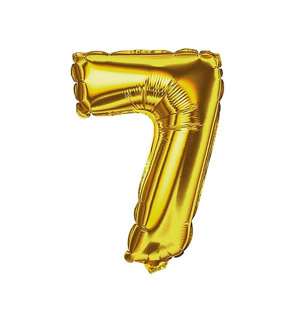Balão Metalizado nº7 Dourado 1metro unid
