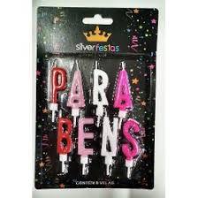 Vela Parabens Rosa (8velas) cartela