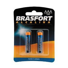Pilha BRasfort AAA Alcalina C/2 unids