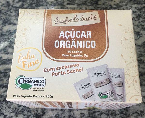 Açúcar Sachê Orgânico Fine 40 saches
