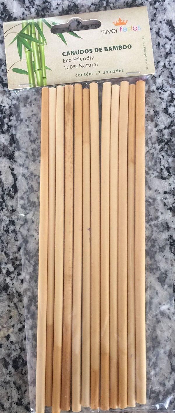 Canudo Biodegradável Bambu 12 unids