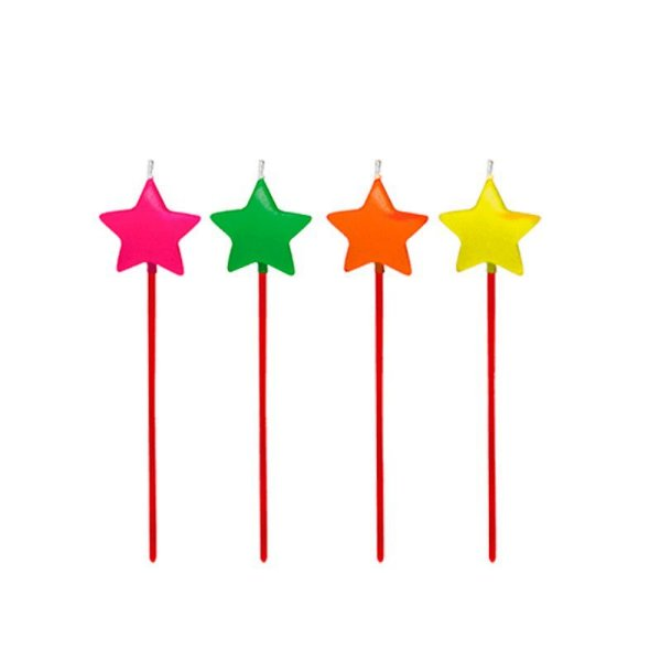 Vela Colorida Estrela 4 unids